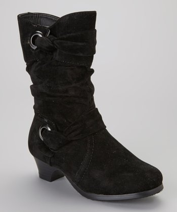 Black Knotted Boot
