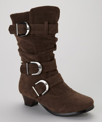 Brown Buckled Boot