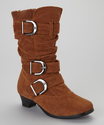 Tan Buckled Boot