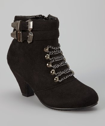 Black Sueded Ashley Boot