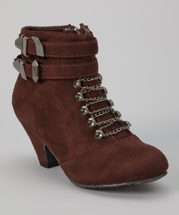 Brown Sueded Ashley Boot