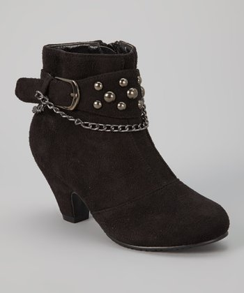 Black Sueded Strap Ashley Boot