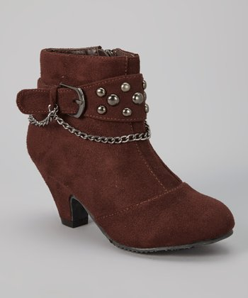 Brown Sueded Strap Ashley Boot