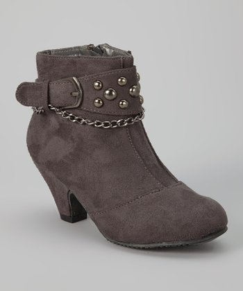 Gray Sueded Strap Ashley Boot