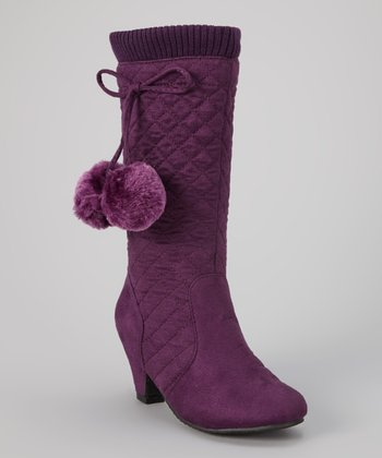 Purple Jay Quilted Boot