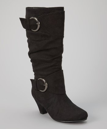 Black Mia Buckle Boot