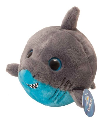 6'' Bubble Zooz Shark Plush Toy