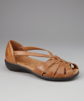 Almond Leather Bouquet Sandal