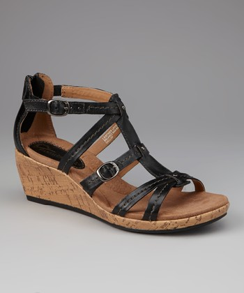 Black Gallop Wedge Sandal