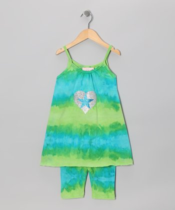 Citrus & Ocean Tunic & Capri Leggings - Toddler & Girls