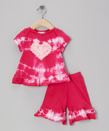 Raspberry Twist Ruffle Top & Pants - Infant