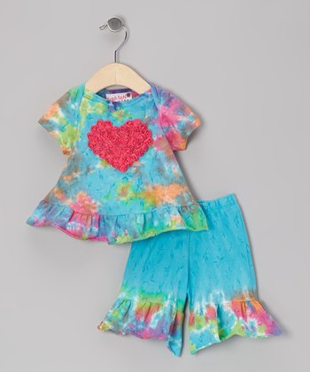 Pastel Rainbow Ruffle Top & Pants - Infant