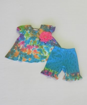 Pastel Rainbow Rumba Top & Pants - Infant