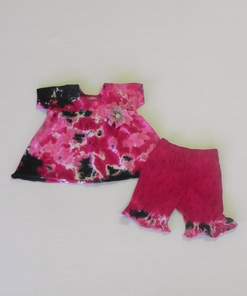 Licorice & Candy Pink Rumba Top & Pants - Infant