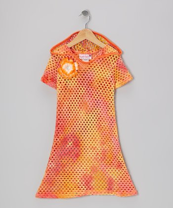 Tangerine Mesh Beach Cover-Up - Toddler & Girls