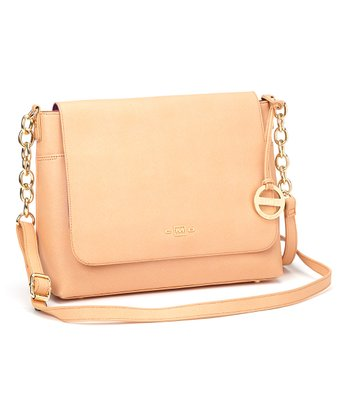 Peach Chain Messenger Bag