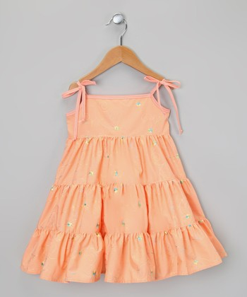 Orange Tier Dress - Infant, Toddler & Girls