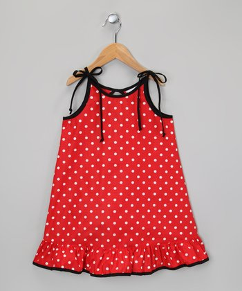 Red & White Polka Dot Ruffle Dress - Infant, Toddler & Girls