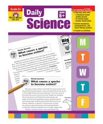 Daily Science: Grades 6 and Up Paperback