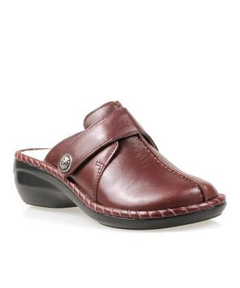 Plum Altadena Leather Mule