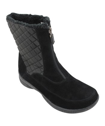 Black Alta Mid Zip Boot