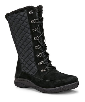 Black Alta Lace Up Boot