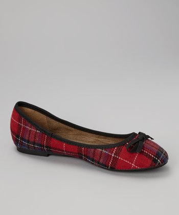 Red Plaid Flat