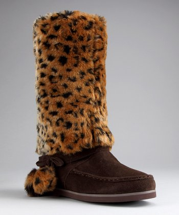 Brown Faux Fur Imperial Boot