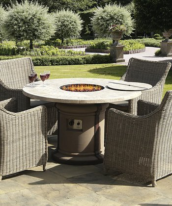 Marble-Top Fire Pit Table