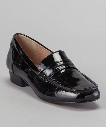 Black Belmont Patent Loafer