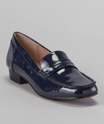 Blue Belmont Patent Loafer