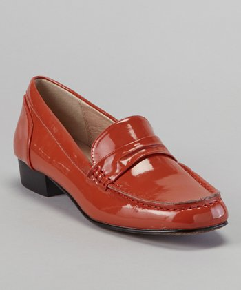Orange Belmont Patent Loafer