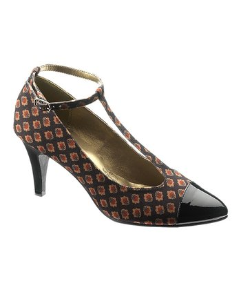 Black Raena T-Strap Pump - Women