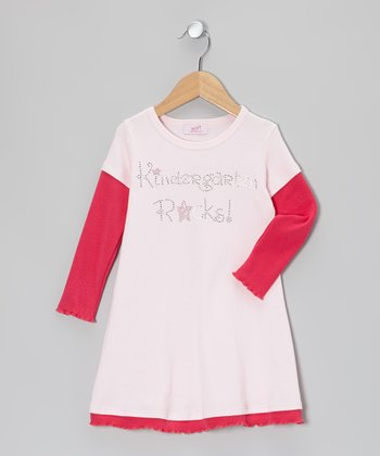 Pink & Fuchsia 'Kindergarten' Layered Dress - Toddler & Girls