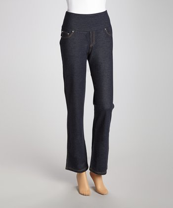 Blue Denim Secret Shaper Bootcut Pants - Women