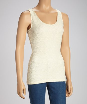 White Lace Rococo Secret Shaper Tank - Women