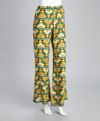 Teal & Yellow Lounge Pants