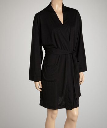 Black Bathrobe - Women