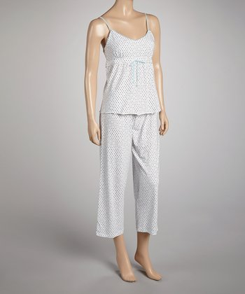 Blue & White Diva Pajama Set