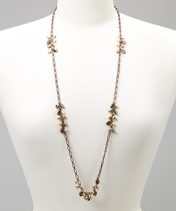 Chocolate & Gold Necklace