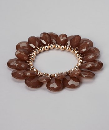 Brown & Gold Stretch Bracelet
