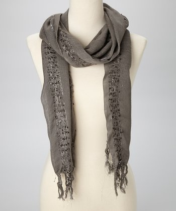 Dark Gray Sequin Scarf