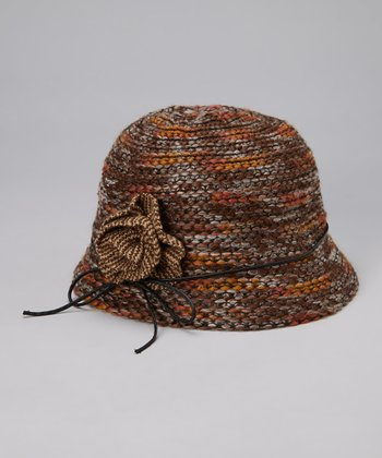Brown Yarn Wool-Blend Cloche