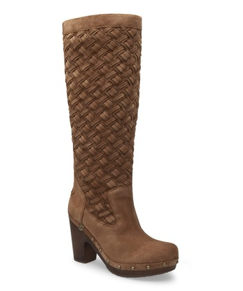 Dark Chestnut Arroyo Weave Clog Tall Boot