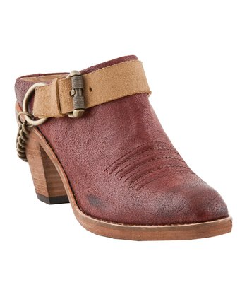 Rust & Tan Kendra Harness Mule - Women