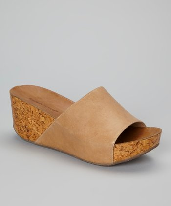 Tan Mattie Wedge Slide