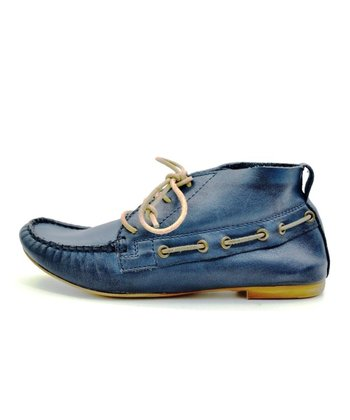 Navy Thatcher Ankle Boot