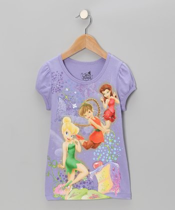 Lavender Disney Fairies Tee - Girls