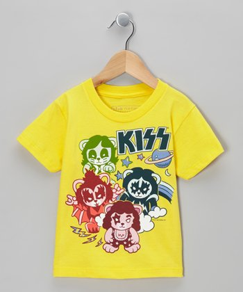 Yellow KISS Glam Bears Tee - Toddler & Boys