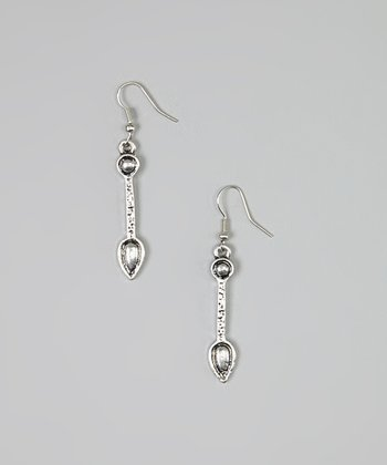 Silver Hammered Teardrop Drop Earrings
